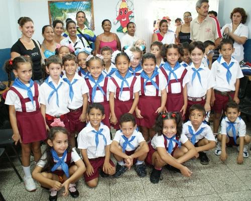 Hoy en la escuela de Elbita, la 4 de Abril de Bayamo